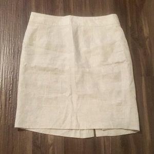 Banana Republic tan linen skirt